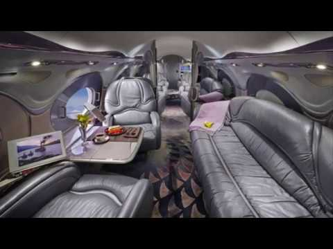 The Most Luxury Private Jet Interior