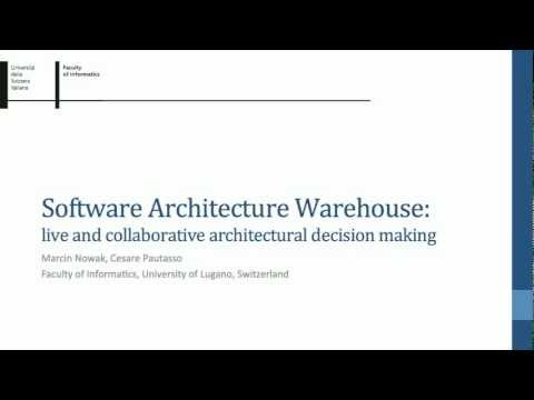 Software Architectural Warehouse: live and collaborative architectural decision making