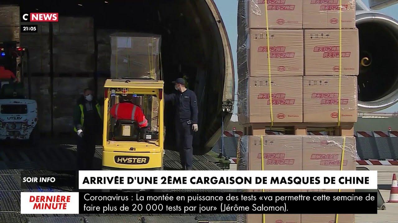 Coronavirus : une deuxième cargaison de masques arrive en France