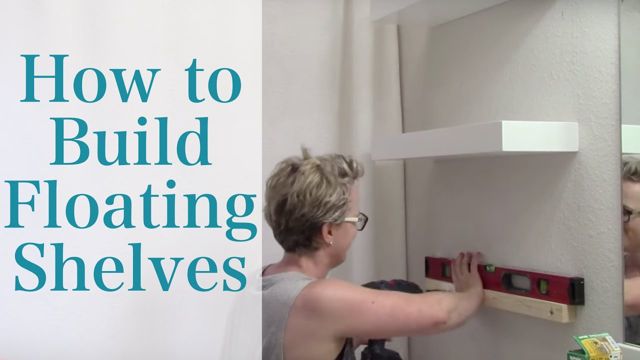 How to Build Floating Shelves YouTube