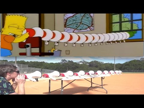 Bart Simpson Megaphone Challenge!