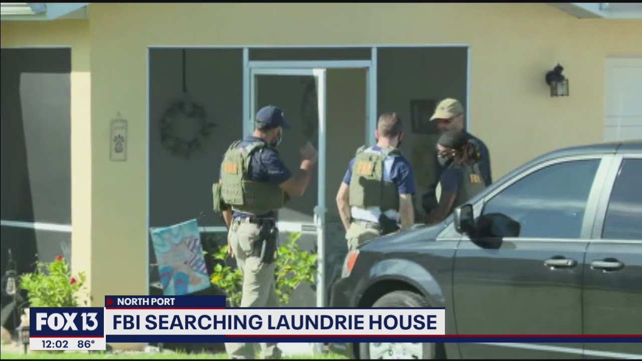 Download FBI searching Brian Laundrie's home