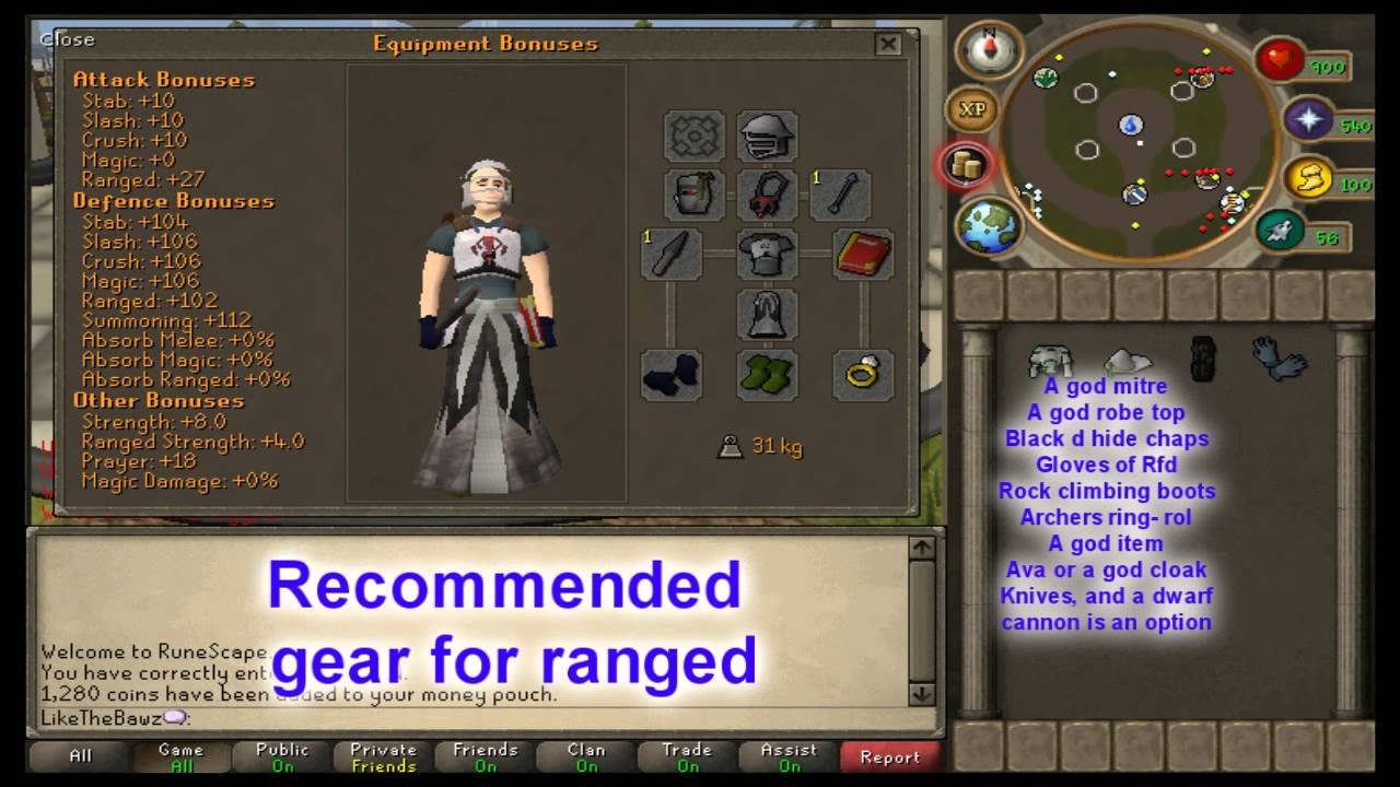 Black gloves osrs - Runescape Zerker Pure Bandit Guide Melee And Ranged