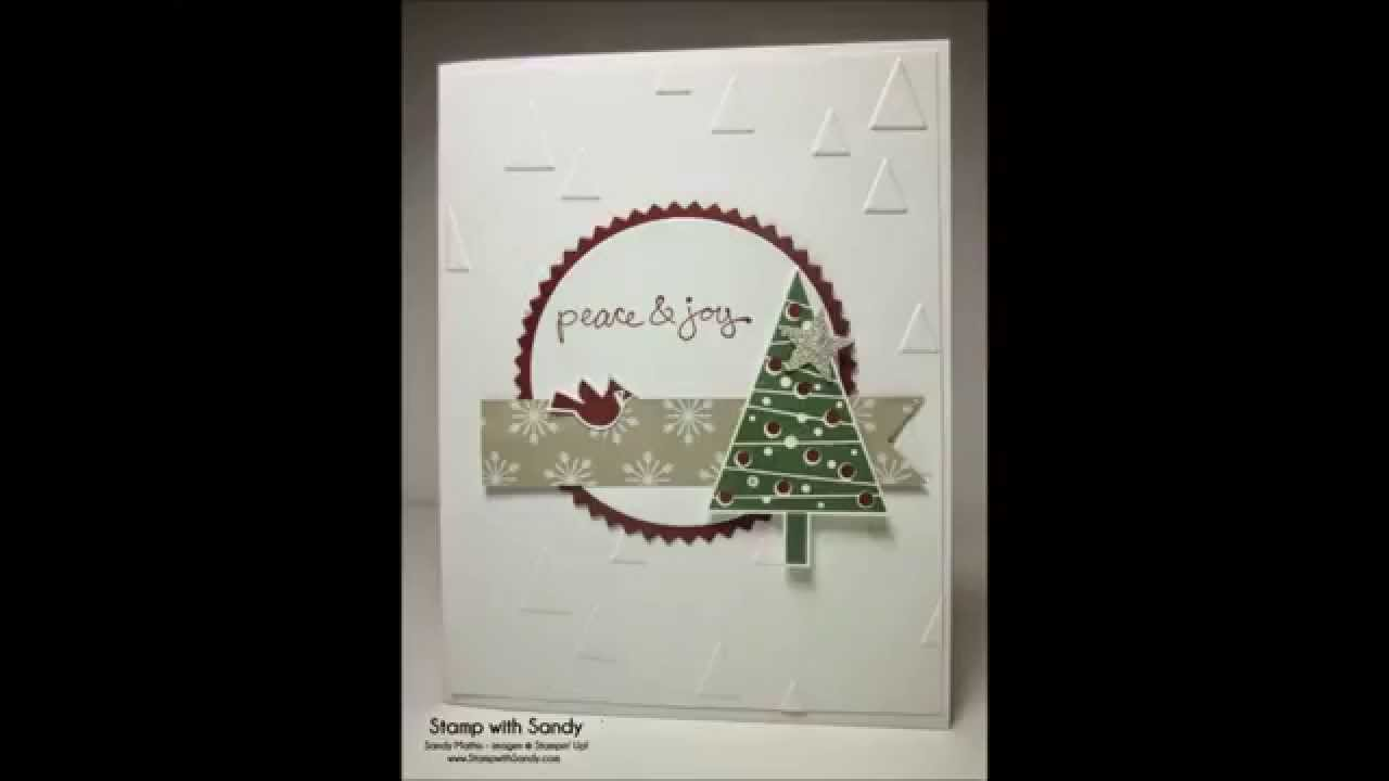 stampin up xmas cards 10 quick  easy cards video61 using