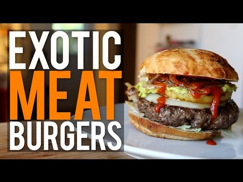 Turns Out Exotic Meat Burgers Are Incredibly Tasty And Healthy
