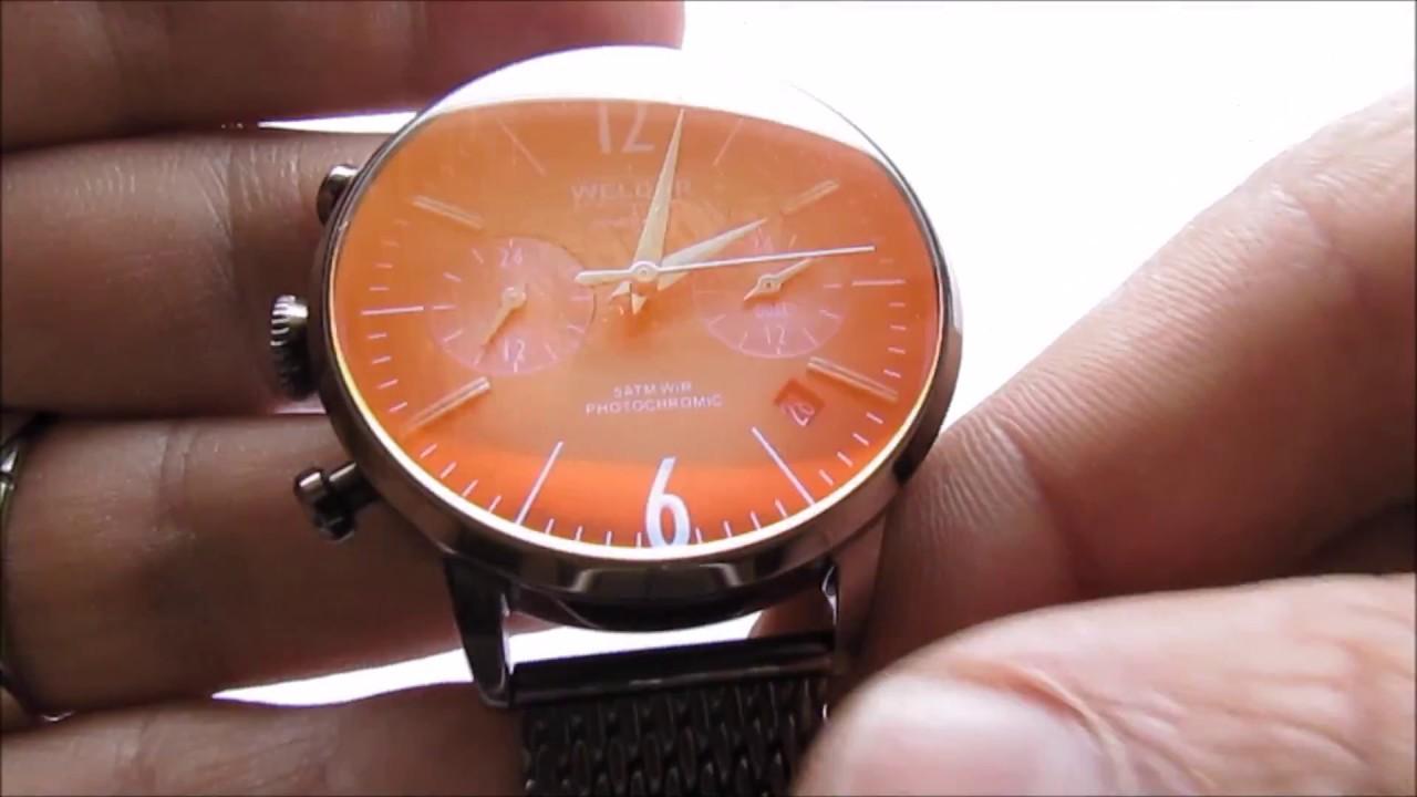 Welder Moody Chocolate Wristwatch. vintage watches