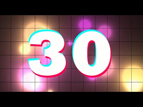 30 second tik tok timer with color retro animated background