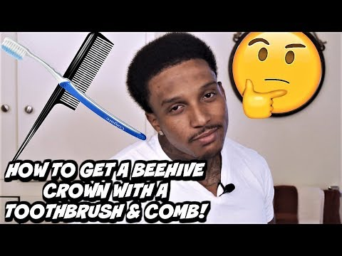 CRAZY CROWN METHOD! HOW TO A GET A 360 WAVE BEEHIVE CROWN WITH A TOOTHBRUSH, COMB & PLASTIC BAG!