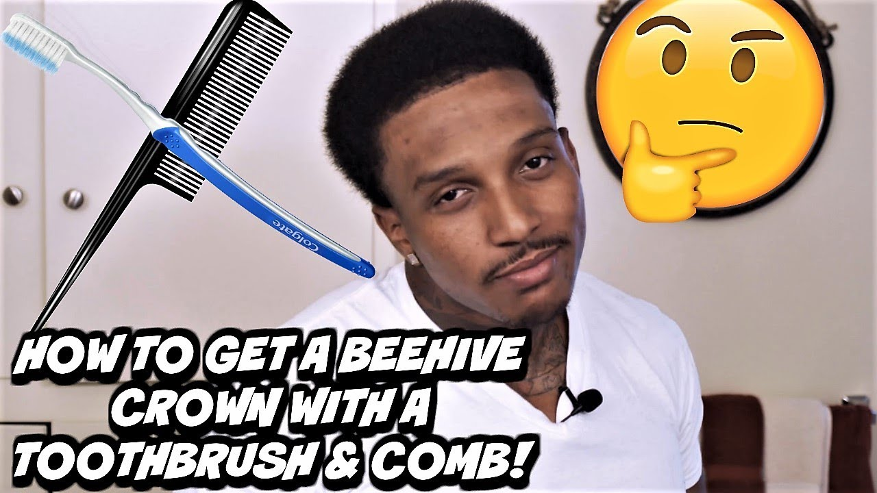 CRAZY CROWN METHOD! (HOW TO A GET A 360 WAVE BEEHIVE CROWN) WITH A TOOTHBRUSH, COMB & PLASTIC BAG!