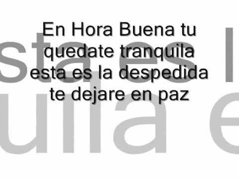 En Hora Buena Fidel Rueda Con Letra