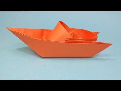 How to make a paper boat Easy Origami Tutorial - Origami Speed Boat making instructions