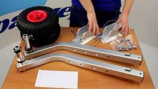 Транцевые колеса с регулировкой высоты(Комплект колес с пневмошинами для надувных лодок. Устанавливаются на транцевую доску. Колеса фиксируются..., 2015-04-23T01:18:45.000Z)