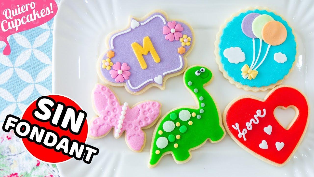 Galletas Decoradas Sin Fondant Especiales Para Celebraciones Quiero Cupcakes