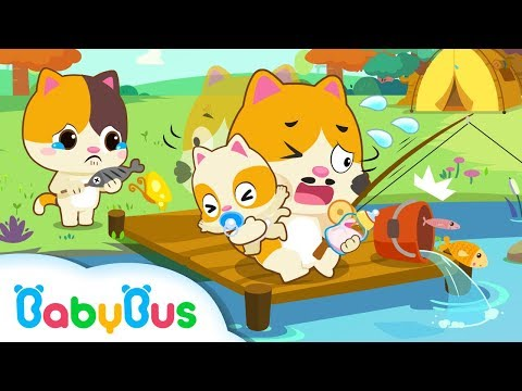 Daddy Kitten's One Day Babysitting | Baby Care | Family Games for Kids | Kids Safety Tip | BabyBus