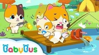 Daddy Kitten's One Day Babysitting   Baby Care   Family Games for Kids   Kids Safety Tip   BabyBus