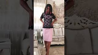 P 0993 Платье коктейльное с гипюровой имитацией накидки video