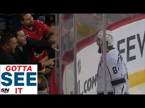 GOTTA SEE IT: Drew Doughty Taunts Calgary Flames Fans After Scoring OT Winner