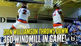 Zion Williamson 360 Windmill IN GAME Channels His Inner Vince Carter!! #1 On Sports Center!