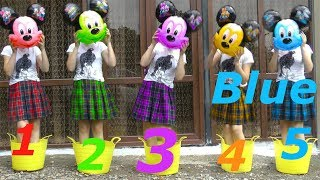 Five Little Mickey Mouse Jumping In The Busket Learn colors And Count With Me For Kids and Toddlers