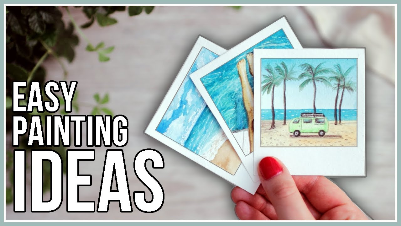 Summer Watercolor Painting Ideas For Beginners Youtube