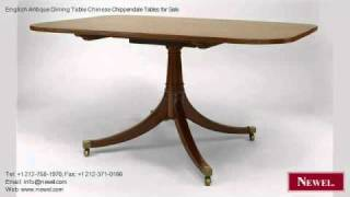 English Antique Dining Table Chinese Chippendale Tables
