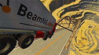Open Cut Mine Bridge Jumping BeamNG drive