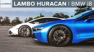 Neon Blue BMW i8 (OR) Stormtrooper Huracan?! LEXANI Wheels