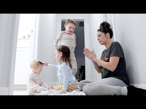 my day in the life ALONE with 4 kids