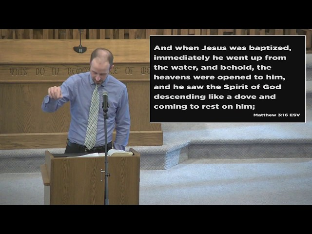 Jesus is the Son of God (Matthew 3:13-17) - Barry Gilreath