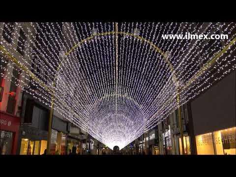 Lichttunnel in Adolf Buylstraat - ILMEX Illumination (Ostend, Belgium) | Full Shows