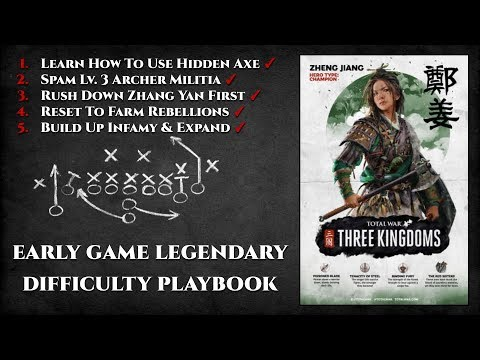 Zheng Jiang Early Game Legendary Difficulty Playbook - Total War: Three Kingdoms
