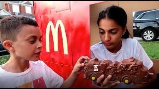 Heidi و Zidane فتحنا مطعم !!! العاب اطفال التسوق في السوبر ماركت   السوبر ماركت  العاب طبخ