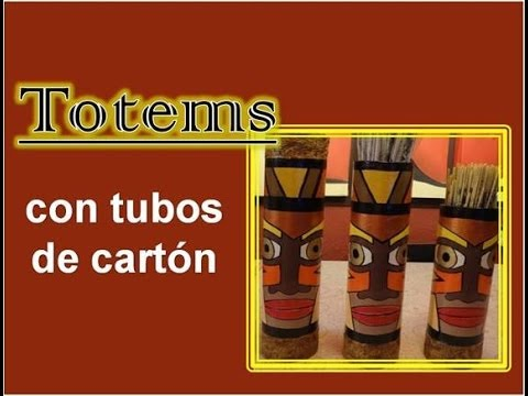 Totems con tubos de cart n youtube - Tubos de carton ...