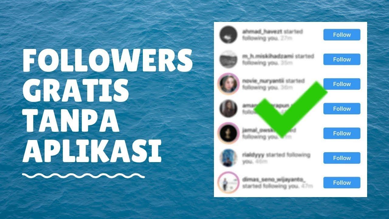 Cara Menambah Followers Instagram 2019 Gratis Youtube