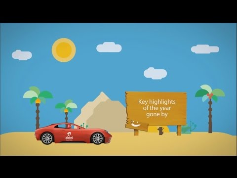 Motion Graphics car animation for Airtel