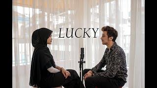 Jason Mraz - Lucky cover by Syarifah intan ft Azizhedraa