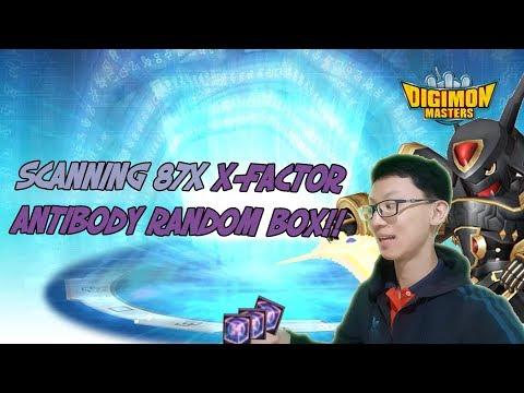 Scanning 87x [X-Antibody Random Box] ! - Digimon Masters Online
