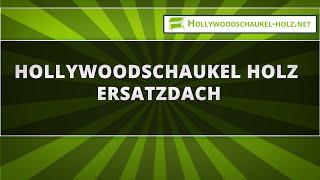 Hollywoodschaukel Holz Ersatzdach
