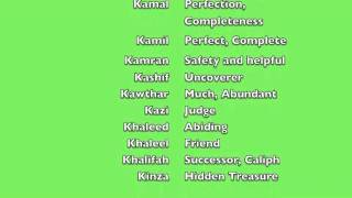 Muslim (Arabic) Baby Names and meanings - Boys