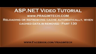 Reloading or refreshing cache automatically, when cached data is removed   Part 130