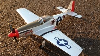 Parkzone Ultra Micro P-51 Mustang RC Plane BNF with AS3X Sunset Flights with Hiccup Soundtrack