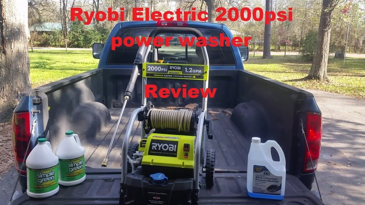 Review on the Ryobi Electric 2000psi power washer