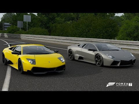 Forza 7 Drag Race: Lamborghini Reventon Vs Murcielago LP670-4 SV (Rematch)