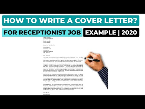 How To Write A Cover Letter For A Receptionist Job? (2020) | Example