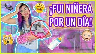 24 HORAS SIENDO MAMÁ - Fui NIÑERA por UN DÍA! 😱De un GATITO!  - Lulu99