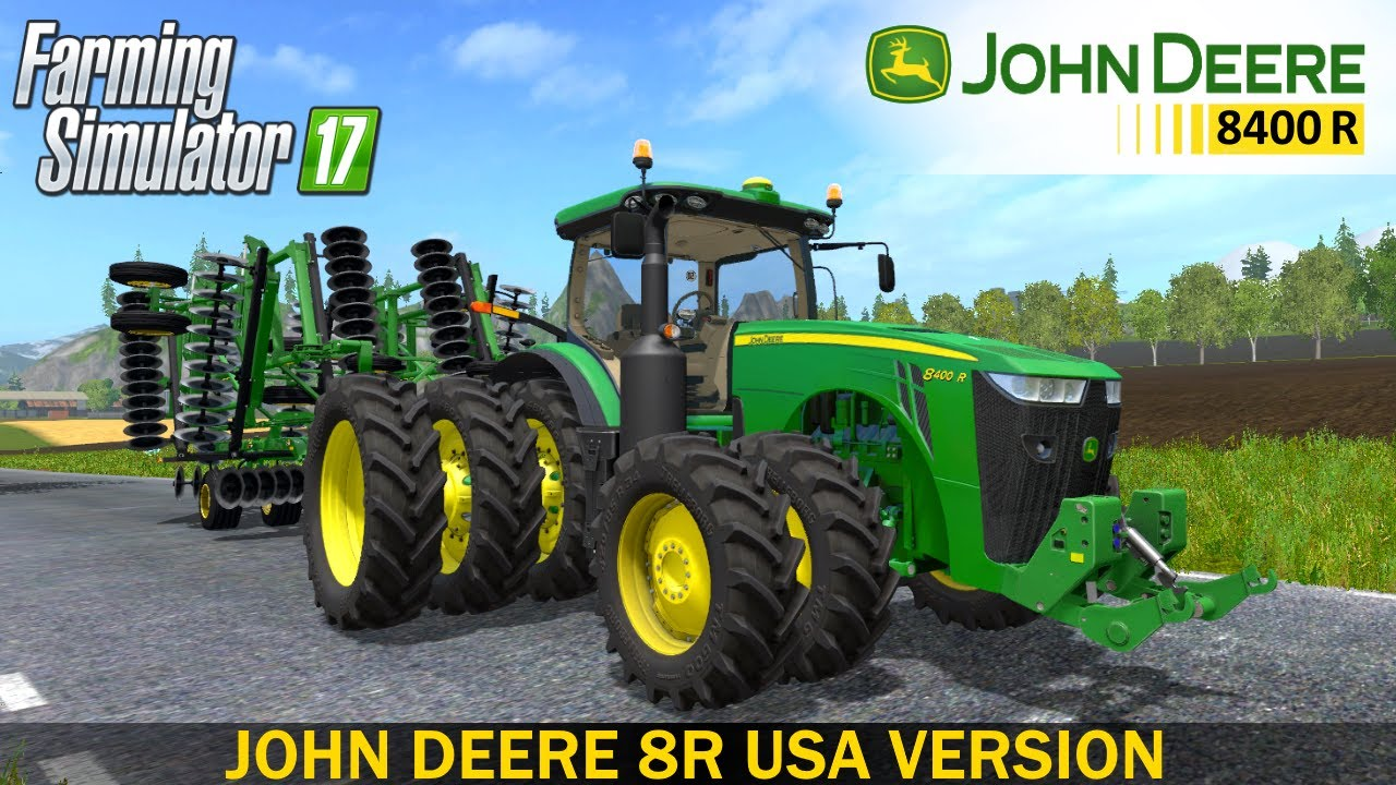 farming simulator 17 john deere 8r usa version tractor. Black Bedroom Furniture Sets. Home Design Ideas