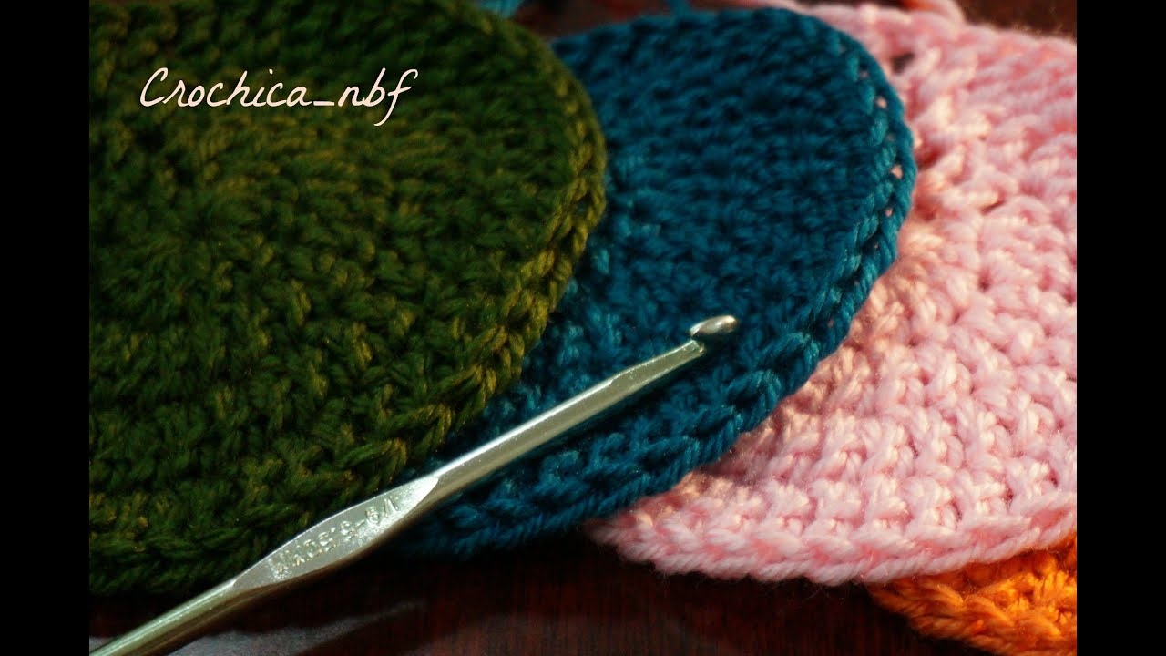 how to keep a crochet circle flat
