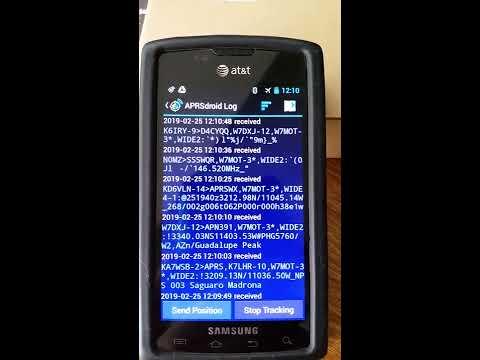 APRSdroid With Offline Mapping, Yaesu FTM400 Via Bluetooth