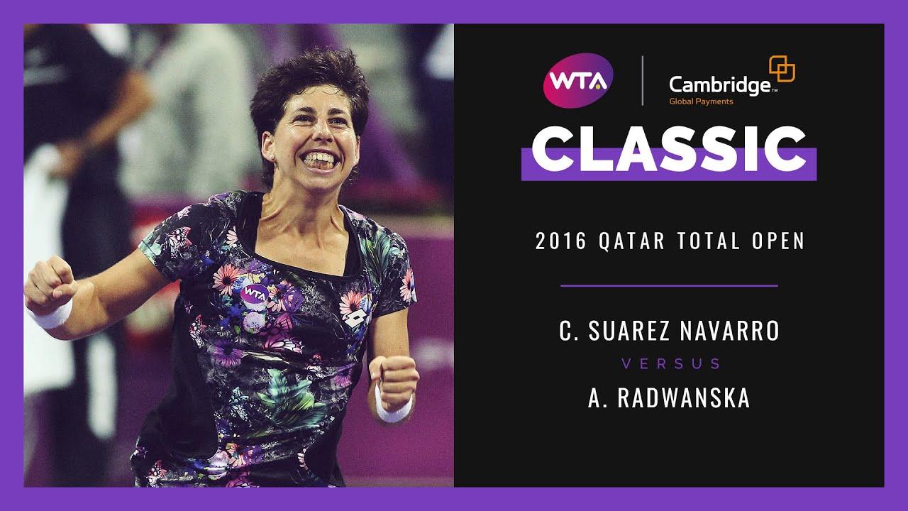 Carla Suarez Navarro vs. Agnieszka Radwanska | Doha 2016 | Full Match