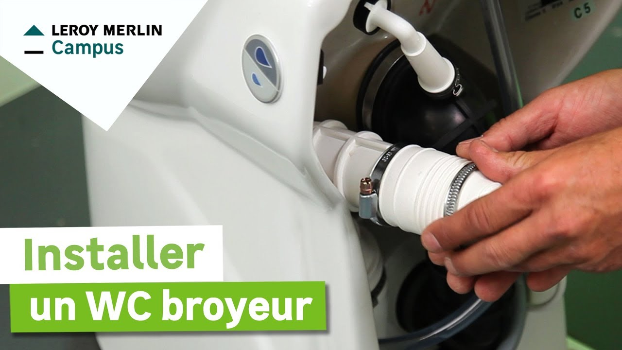 Comment poser un wc broyeur leroy merlin youtube - Installer un sanibroyeur ...